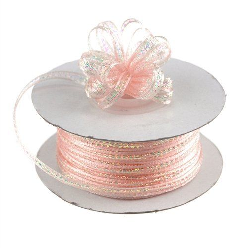 "3/8"" X 50 Yards Iridescent Pull String Bows Ribbon Art Party Wedding Favor"