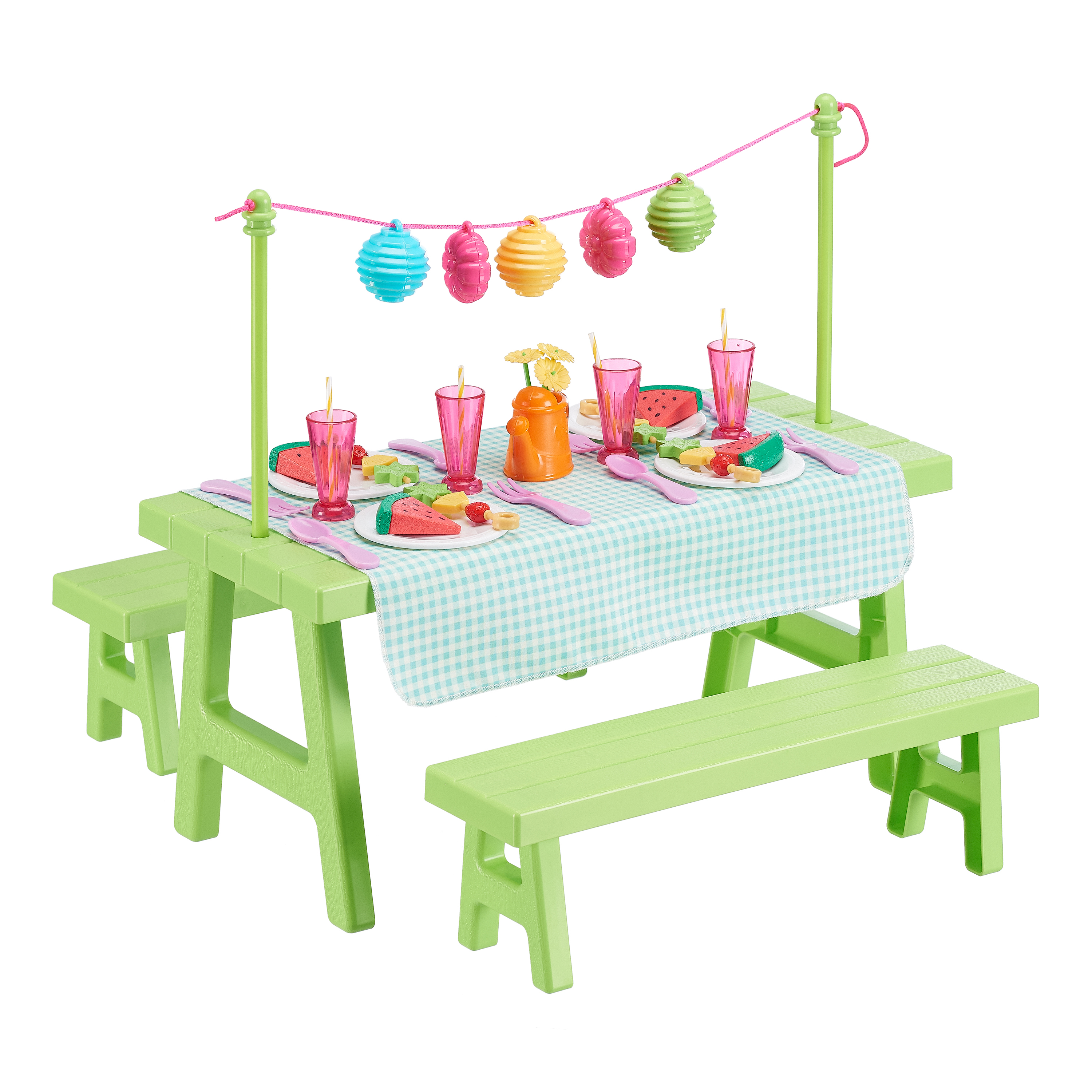 My Life As Picnic Table 47 Piece Accessory Set for 18-inch Dolls
