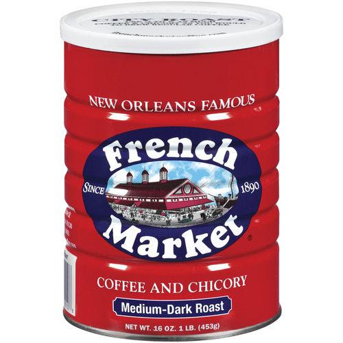 French Market Medium-Dark Roast Ground Coffee & Chicory, 16 oz