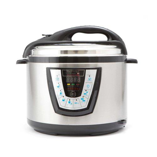Harvest Cookware Electric Original Pressure Pro 10-Quart Pressure Cooker, Black