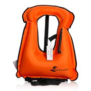 Inflatable Swim Vest for Snorkeling Device Swimming Drifting Surfing Water Sports Life Saving