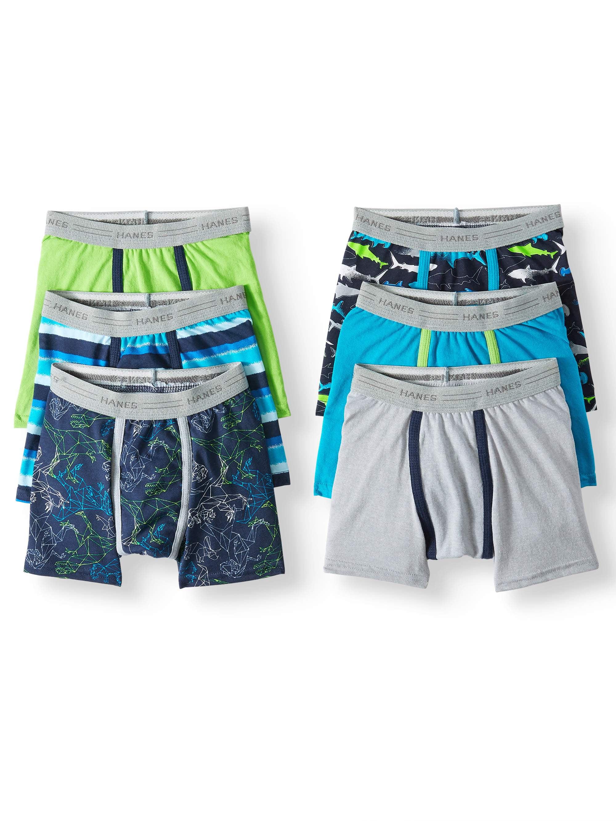Hanes EcoSmart Tagless Boxer Brief Underwear, 6-Pack (Toddler Boys)
