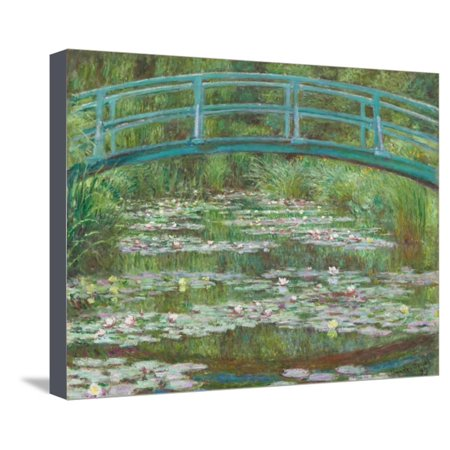 The Japanese Footbridge, 1899 Garden Floral Architecture Flower Landscape Stretched Canvas Print Wall Art By Claude Monet