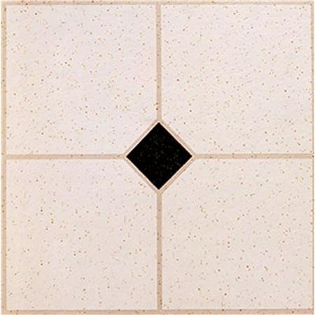 Winton self adhesive vinyl floor tile gray and black for 12 inch vinyl floor tiles