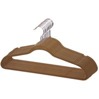 Sunbeam 10-Pack Velvet Hanger, Brown