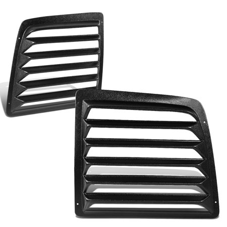 For 1997 to 2017 Chevy Express GMC Savana 1500 2500 3500 Van 2Pcs Rear Window Scoop Louvers Sun Shade Cover 01 02 03 04 05 06 07 08 09 10 11 12 13 14 15