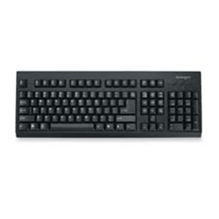 Kensington KMW64370 Keyboard- Spill Safe- PS-2-USB Compatible- 18in.x6-.50in.x.75in.- BK