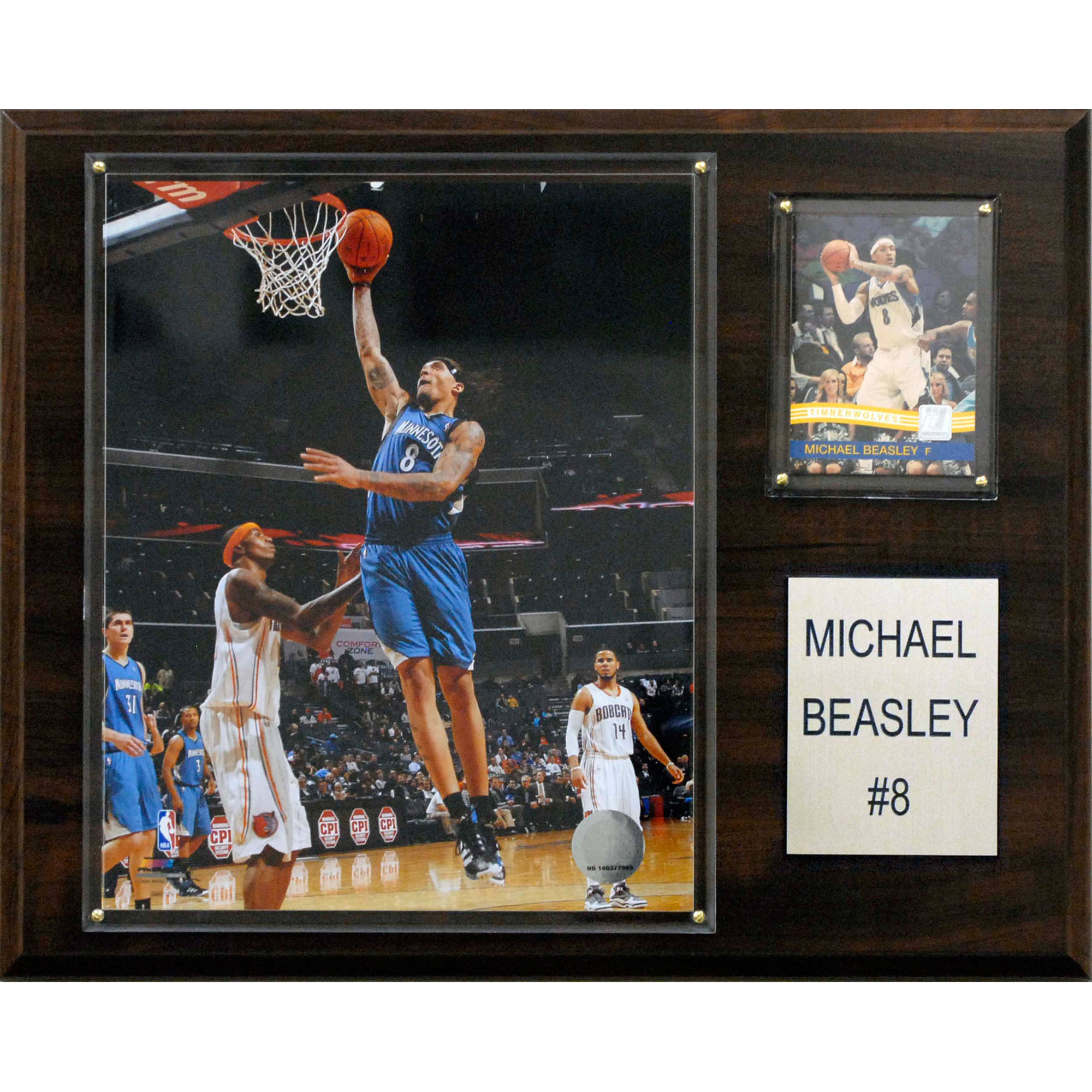 C&I Collectables NBA 12x15 Michael Beasley Minnesota Timberwolves Player Plaque
