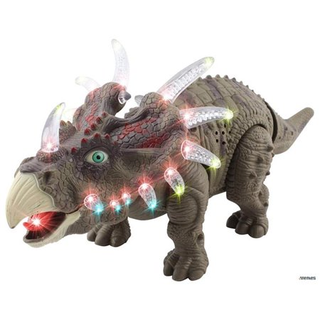 Azimport D632 Green Walking Triceratops Dinosaur Toy Figure   Green