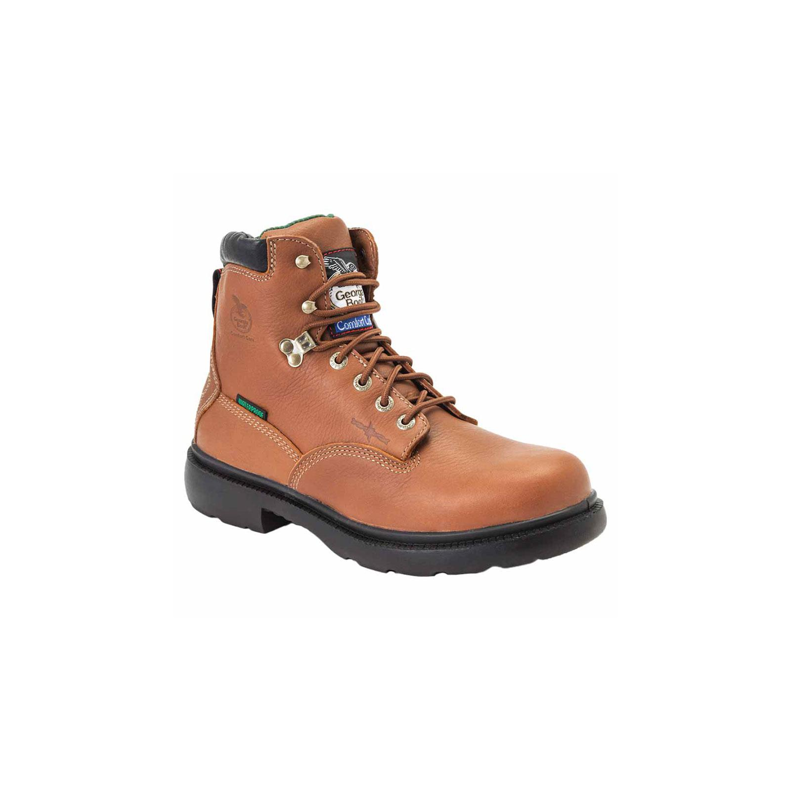 Georgia Men's Farm and Ranch Waterproof Lace Up Work Boots Brown G6503