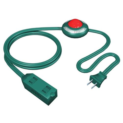 9' Westinghouse 3-Outlet Green Foot Tapper Extension Cord with Safety Covers