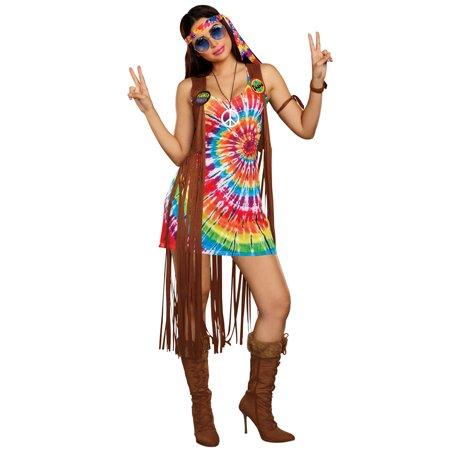 Hippie Hottie Adult Costume - Hippi Costume