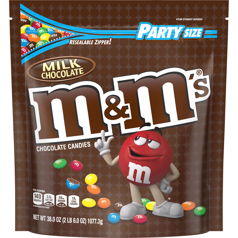 M&M'S Milk Chocolate Candies, party size, 38 oz.