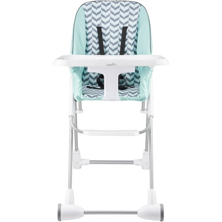 - Evenflo Symmetry Flat Fold High Chair, Spearmint Spree