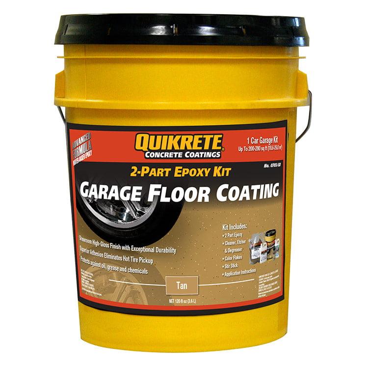 Quikrete Garage Floor 2 Part Epoxy Tan Kit Walmart Com