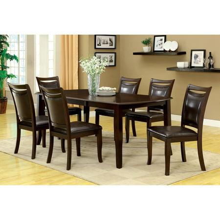 Furniture of America Precance 7 Piece Dining Table Set - Espresso ...