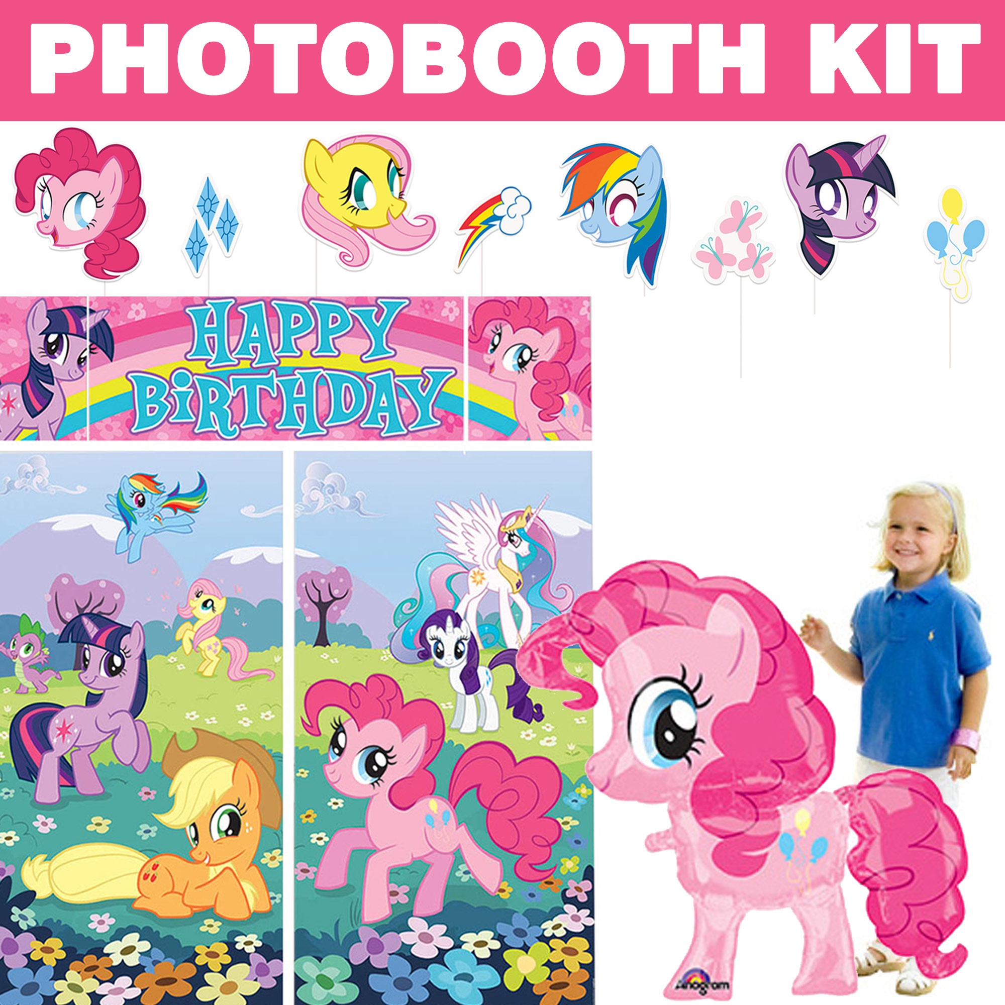 My Little Pony Deluxe Photo Booth Kit - Party Supplies