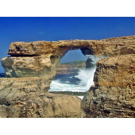 LAMINATED POSTER Window Rock Nature Azure Gozo Azure Window Malta Poster Print 24 x 36