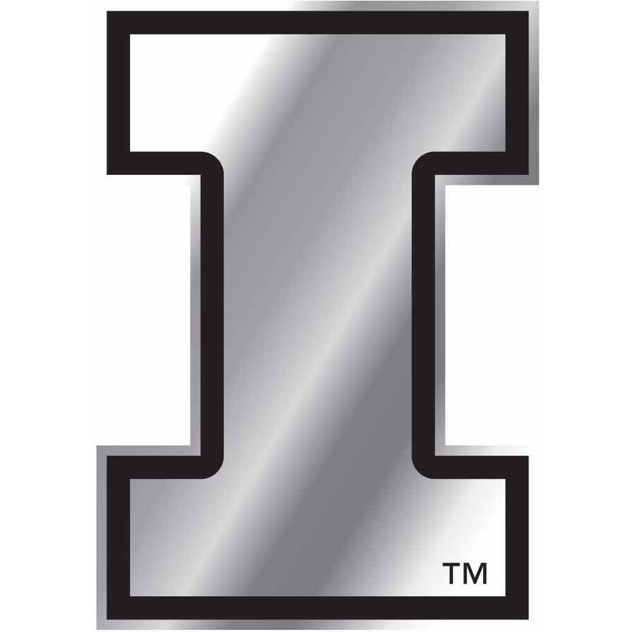 NCAA Illinois Chrome Emblem