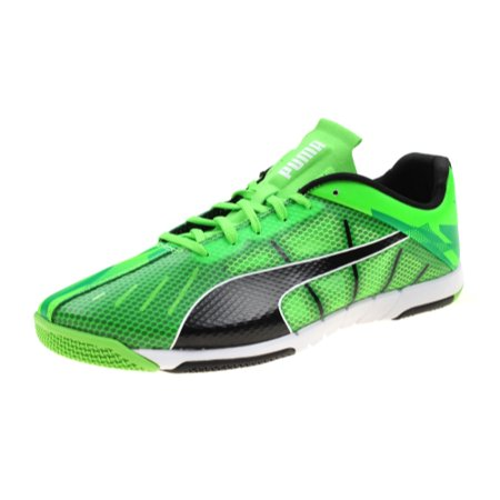 Puma Men's and Youth Big Boys Neon Lite 2.0 Indoor Soccer Shoes (Euro 46.5 / ... (Indoor Soccer Shoes For Youth)