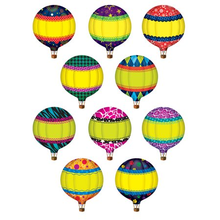 HOT AIR BALLOONS ACCENTS - 30PK - Toy Hot Air Balloon