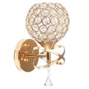 Modern Crystal Wall Lights, Gold/Sliver Chrome Finish Indoor Sconce Wall Lamp for Living Room Bedroom Wall Mounted Bedside Lamp for Home Hotel Corridor Decorate