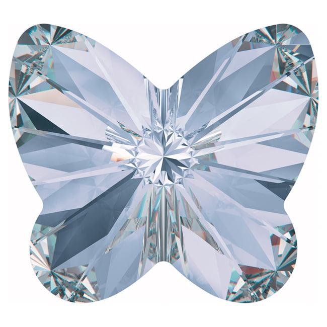 Swarovski Crystal, #4748 Rivoli Butterfly Rhinestones 10mm, 4 Pieces, Provence Lavender F