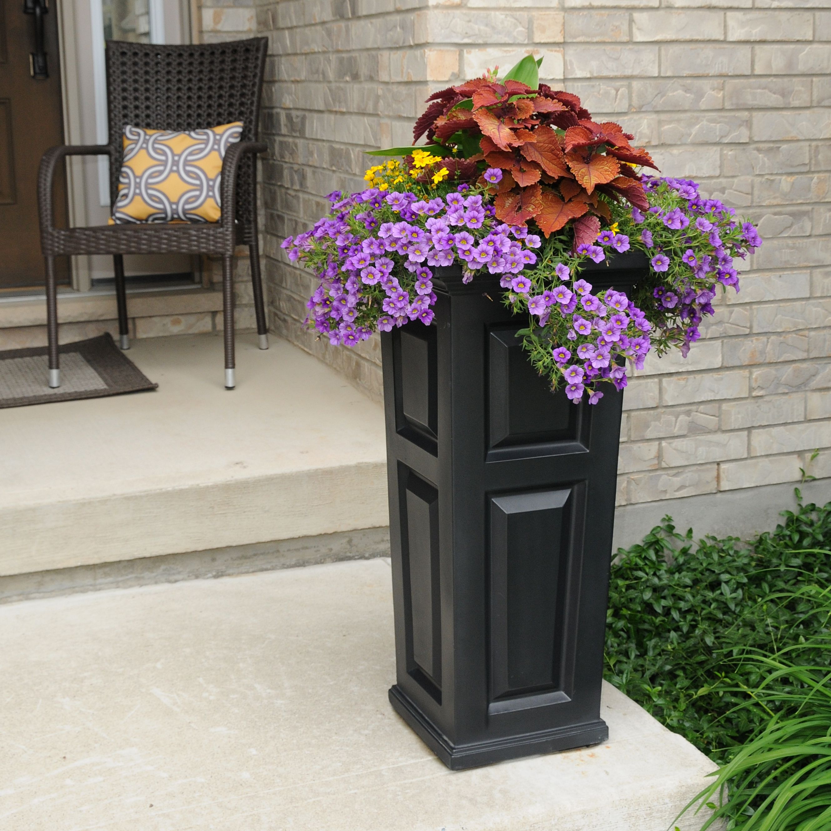 Nantucket Tall Planter Black by Mayne Inc.