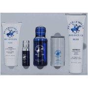 Beverly Hills Polo Club amgpcbhbl5 Blue Makeup Gift Set for Mens - 5 Piece