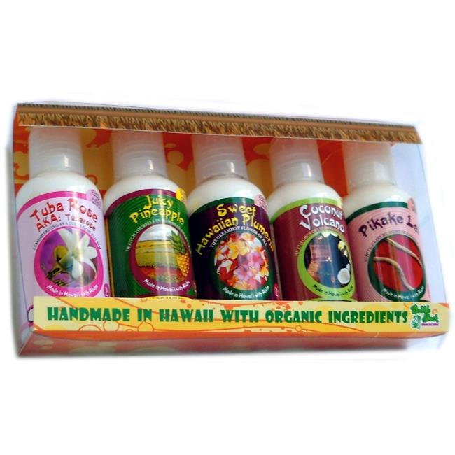 Bubble Shack Hawaii 689076050180 Assorted 5 Pack Mini Lotion Gift Set - Pack of 2