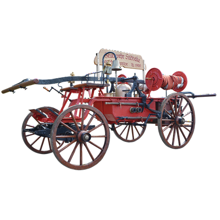 LAMINATED POSTER Fire Engines 1900 Horse Drawn Carriage Fire Poster Print 24 x 36 - Horse Drawn Fire Engine