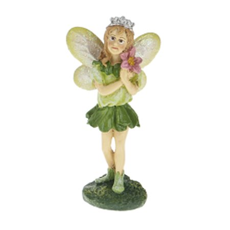 Tooth Fairy Tiara (Irish Fairy Figurine With Yellow Wings and Silver Colored Tiara - By)