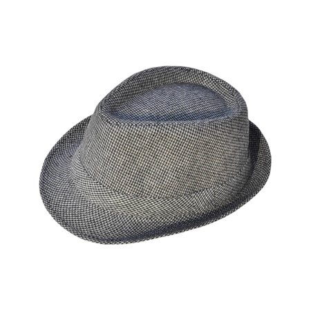 Short Brim Teardrop Crown Wool Blend Fedora Hat (Drop Shoulder Wool Blend)