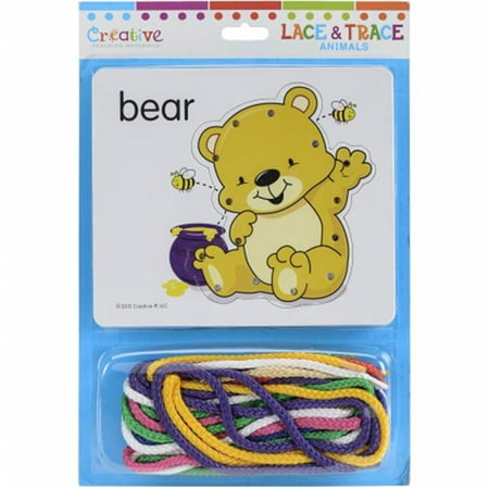 Pbs Publishing CTM1036 Creative Teaching Materials Lace & Trace Cards - Animals - image 1 of 1