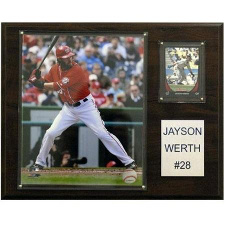 C & I Collectibles 1215WERTHWN MLB Jayson Werth Nationals de Washington Plaque du Joueur - image 1 de 1