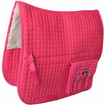 - Horse Quilted ENGLISH SADDLE PAD Pink Fleece Padded Aussie Australian 7275
