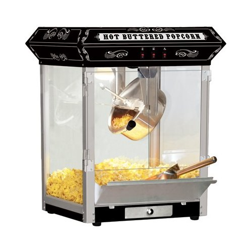 Funtime 8 oz Carnival Style Hot Oil Popcorn Maker Machine, Black