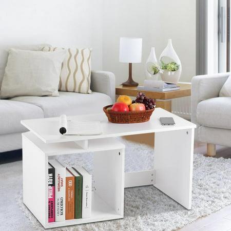 Lv. life Modern Stylish Coffee Tea Table Living Room Tables with Base  Storage Shelf, Tea Tables, Living Room Table
