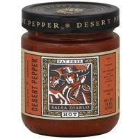 Desert Pepper Diablo Salsa, 16 oz (Pack of 6)