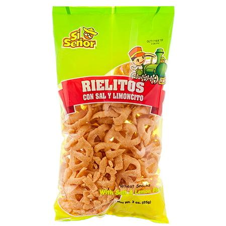 New 364440 Si Senor Rielitos Con Sal Y Limoncito 3 Oz (12-Pack) Snacks Cheap Wholesale Discount Bulk Snacks Snacks
