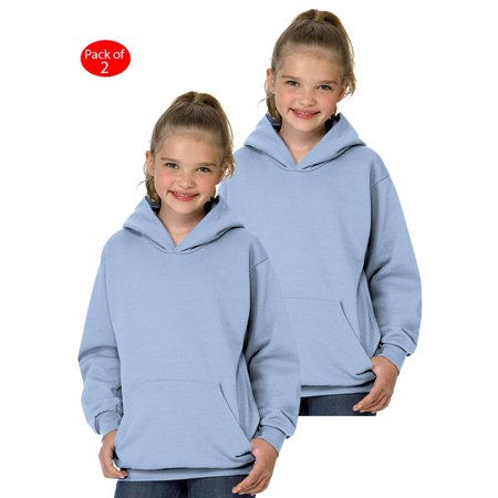 Hanes Youth ComfortBlend; Eco Smart; Pullover Hoodie, Color: Light Blue, Size: S --- PACK OF 2 (Boys - Original Company (Boys Navy Sweater)