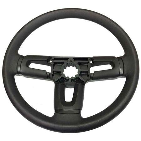 OEM Hard Rim Steering Wheel for Husqvarna Poulan Weed Eater Lawn Mowers Tractors ()