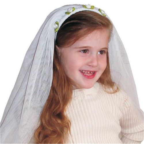 Kids Adorable White Bride Veil By Dress Up America