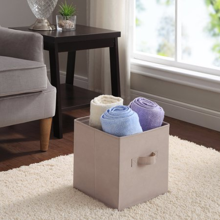 Mainstays Collapsible Fabric Storage Cube  Set Of 2   Multiple Colors  10 5   X 10 5