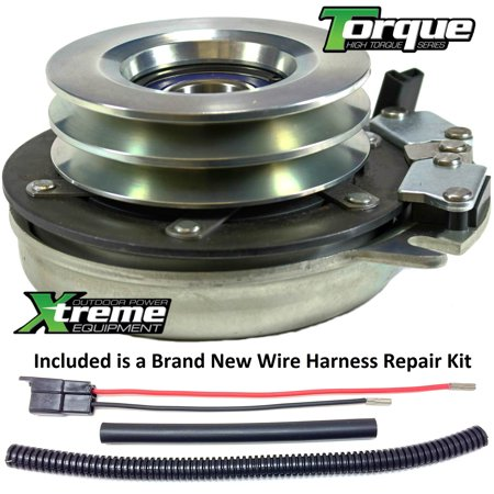 Bundle - 2 items: PTO Electric Blade Clutch, Wire Harness Repair Kit   Replaces Warner 5218-27 Electric PTO Clutch - w/ Wire Harness Repair Kit !