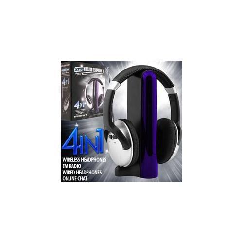 Trademark Poker Digital 007 4-in-1 Wireless Headphones