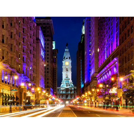 City Hall and Avenue of the Arts by Night, Philadelphia, Pennsylvania, United States Print Wall Art By Philippe Hugonnard](Halloween Night Events Philadelphia)