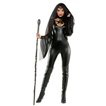 Adult Sexy Gothic Black Magic Sorceress Costume