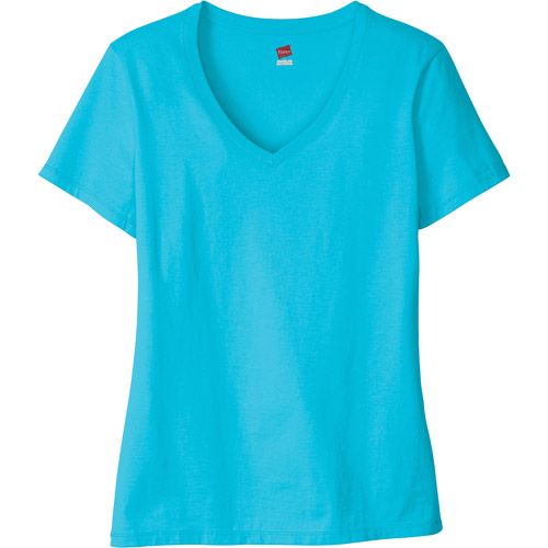 Hanes Women's Essential Short Sleeve V-neck Tee