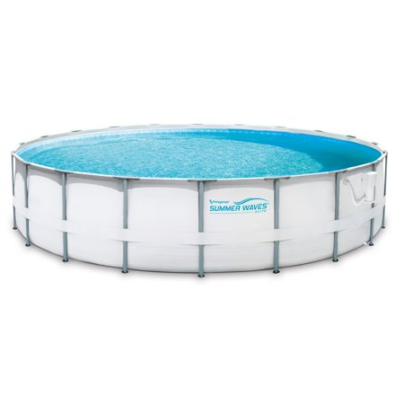 Summer Waves Elite 20\' Ft. Metal Frame Above Ground Pool Set with ...